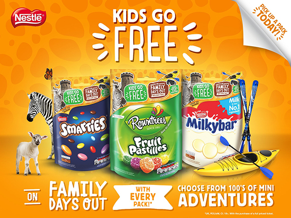 nestle kids go free on-pack promotion