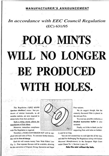 polo mints without holes joke in the newspaper