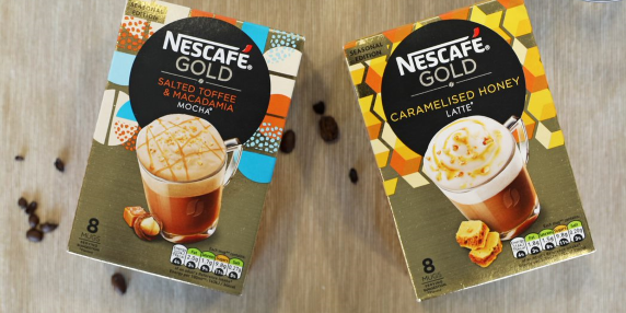 nescafe frothy coffee honey and toffee tastes