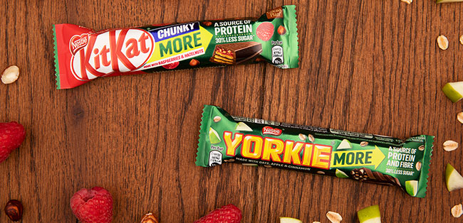 kitkat chunky more and yorkie more bars