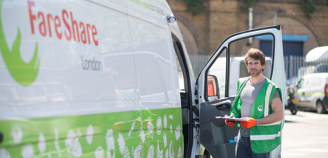 FareShare male volunteer