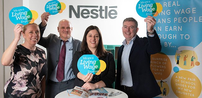 Nestlé celebrates 5 years as a Living Wage employer