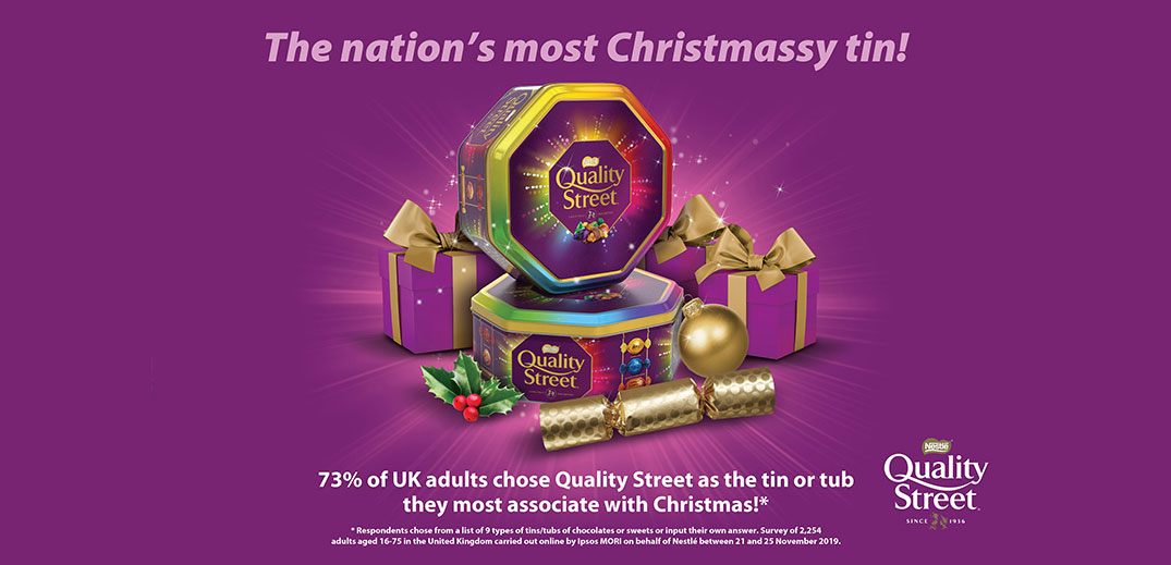 Quality Street Christmassy tin