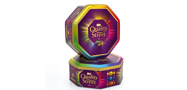 Quality Street personalised tin
