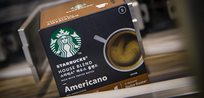 Starbucks House Blend by Nescafé Dolce Gusto comes off the line at Tutbury