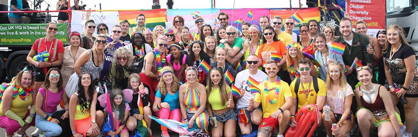 nestle at brighton pride group pic